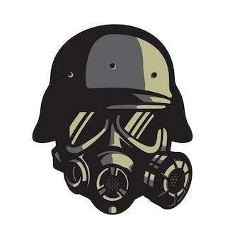 Masque à gaz vecteur