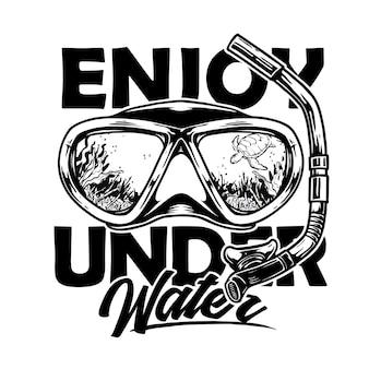 Masque google pour le snorkeling et la plongée