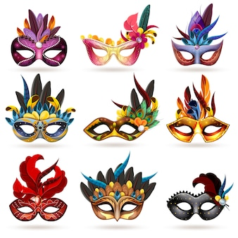 Masque icons set