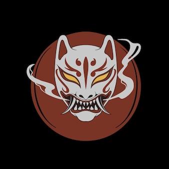 Masque japonais kitsune et oni