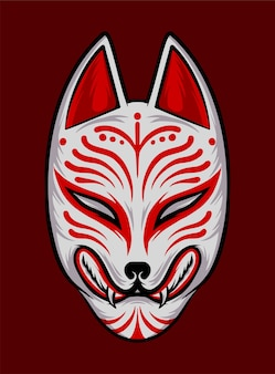 Masque japonais kitsune