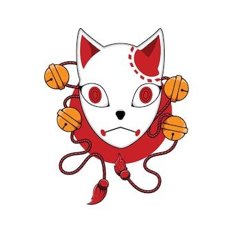 Masque kitsune japonais