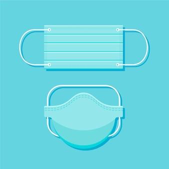 Masque médical design plat