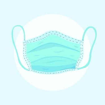 Masque médical d'illustration design plat