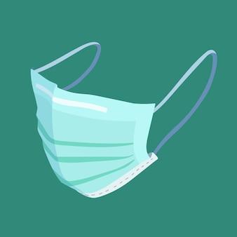 Masque médical de style plat