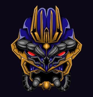 Masque monster mecha illustration