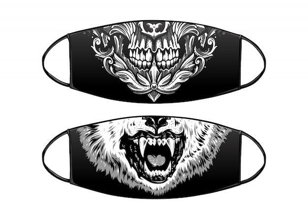 Masque noir de protection antivirus