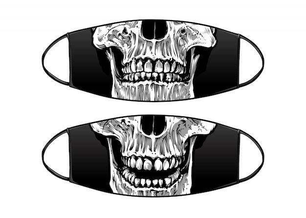 Masque Noir De Protection Antivirus Vecteur Premium