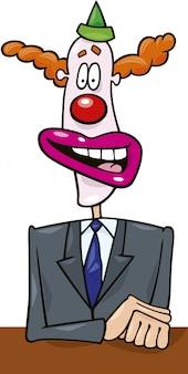 Masque de politicien clown
