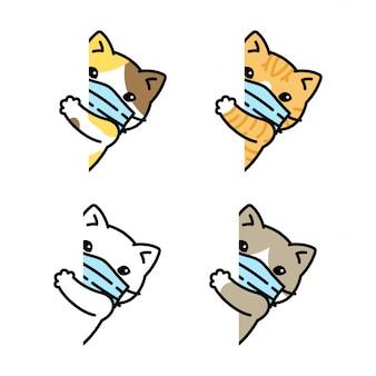 Masque pour chat chaton coronavirus covid-19