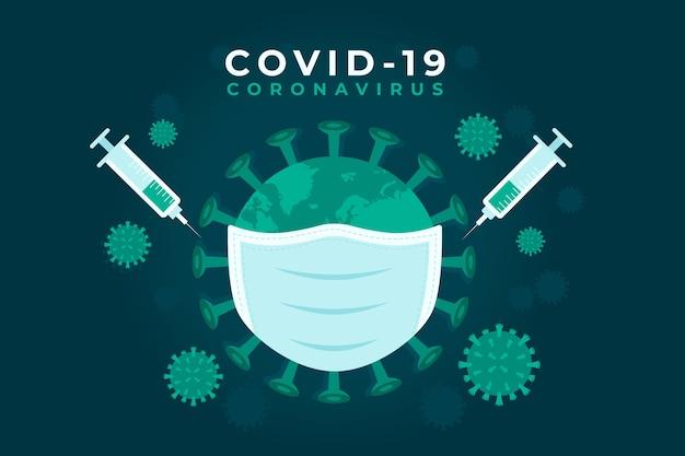 Masque de protection contre le concept pandémique