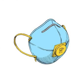 Masque de protection dessiné à la main
