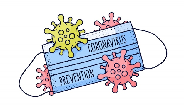 Masque de protection médicale covid 19 coronavirus