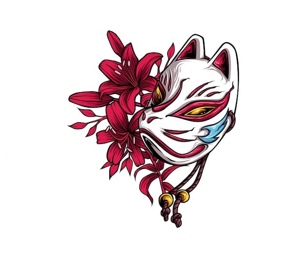 Masque de renard japonais