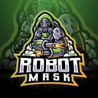Masque de robot mascotte logo esport