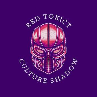 Masque rouge rétro