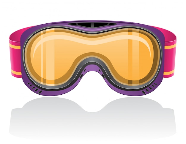 Masque de snowboard et de ski.