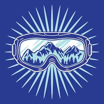 Masque de snowboard