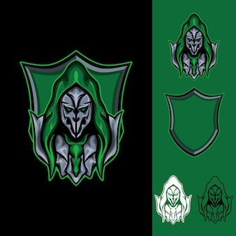 Le masque de sorcière: logo e-sport gaming