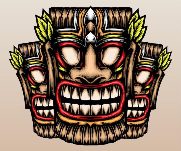 Masque tiki traditionnel.