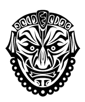 Masque tribal antique