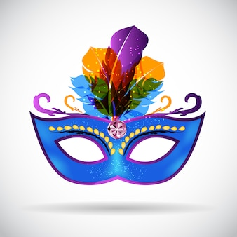 Masquerade carnival mask icon illustration