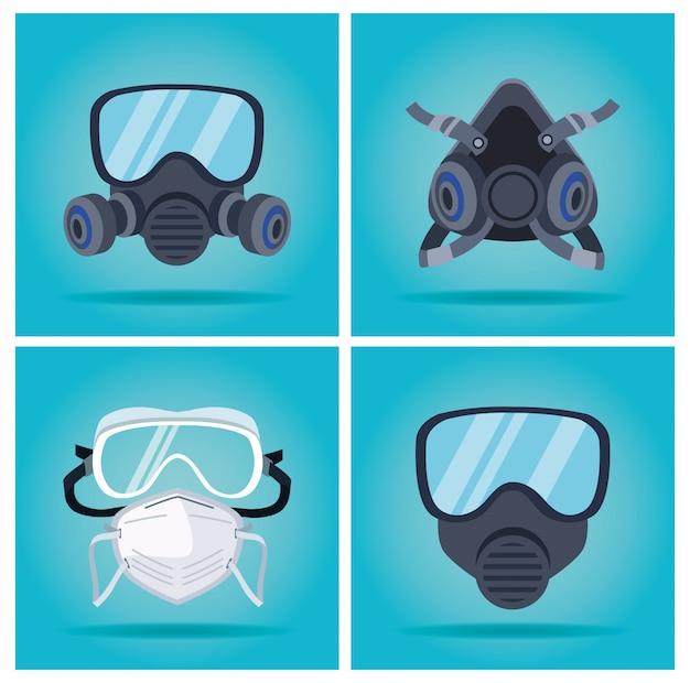Masques de biosécurité et accessoires de protection des bouchons buccaux