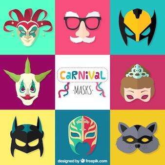 Masques de carnaval emballent