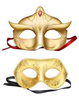 Masques faciaux, carnavals vénitiens