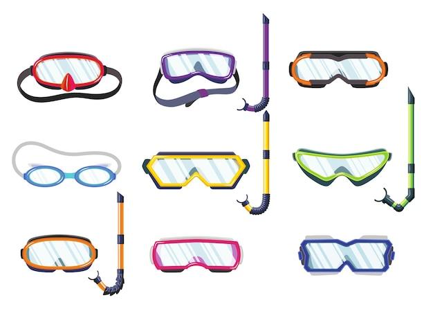 Masques de tuba pour la plongée et la natation de différents types