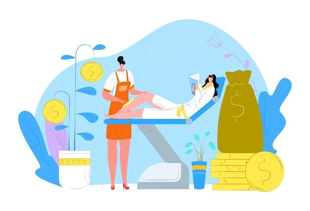 Massage femme soins de la peau, femme allongée sur le canapé lire le magazine