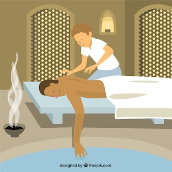 Massage relaxant illustration