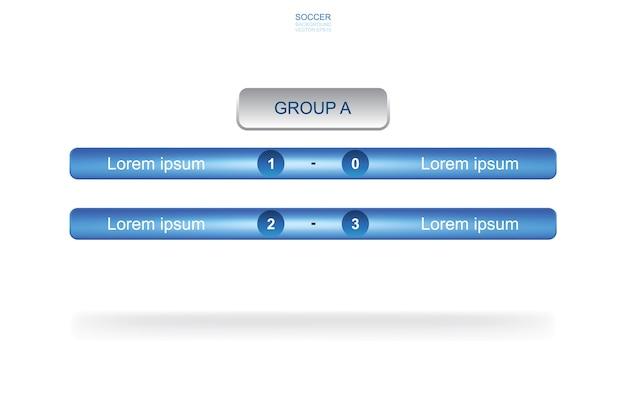 Match calendrier équipe groupe de fond pour la coupe de football de football de championnat du monde. calendrier des tournois de football de football.