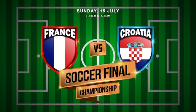 Match final de football entre la france et la croatie