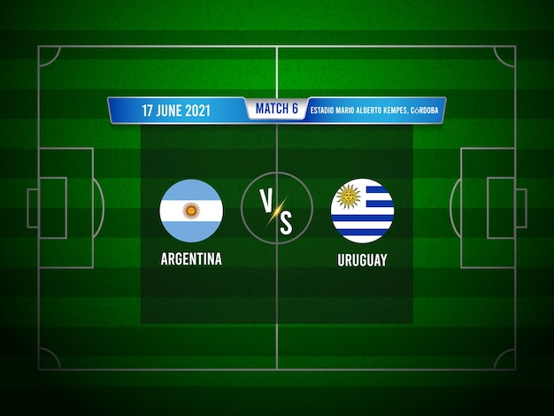 Match de football de la copa america argentine contre l'uruguay