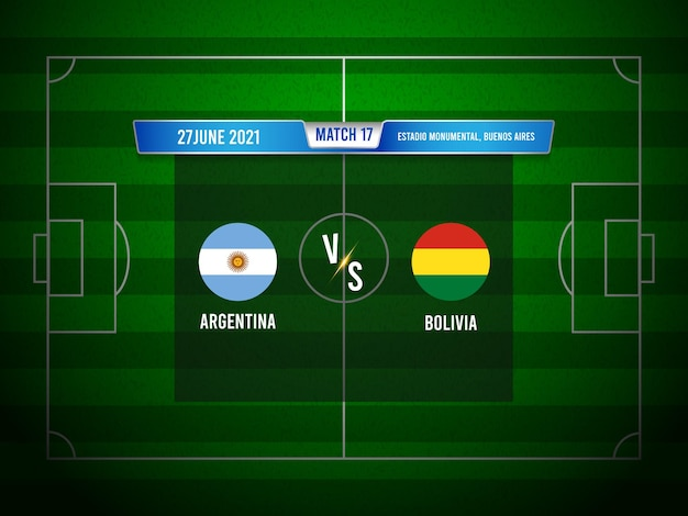 Match de football de la copa america argentine vs bolivie