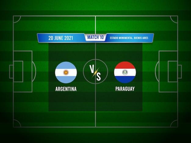 Match de football de la copa america argentine vs paraguay