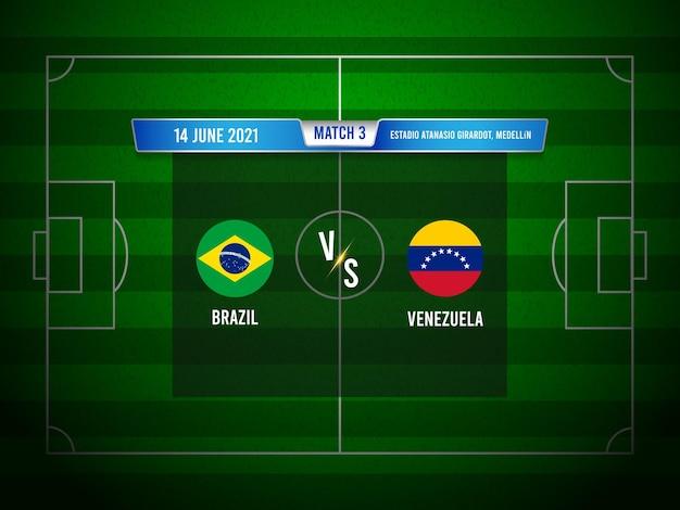 Match de football de la copa america brésil vs venezuela