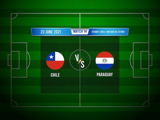 Match de football de la copa america chili vs paraguay