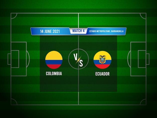 Match de football copa america colombie vs equateur