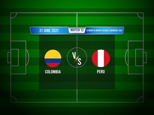 Match de football de la copa america colombie vs pérou