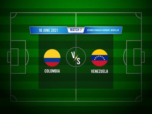 Match de football de la copa america colombie vs venezuela