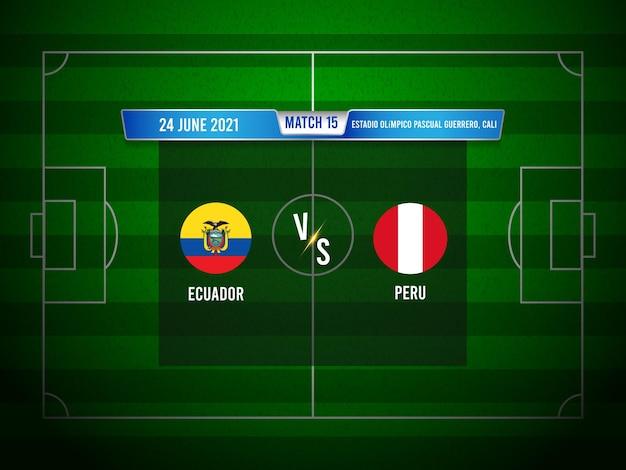 Match de football copa america equateur vs pérou