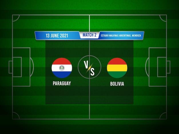 Match de football copa america paraguay vs bolivie