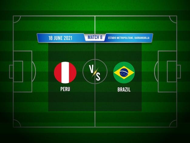 Match de football de la copa america pérou vs brésil