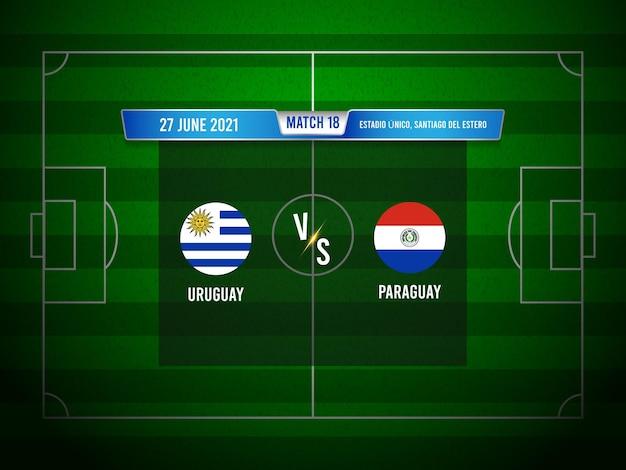Match de football de la copa america uruguay contre le paraguay