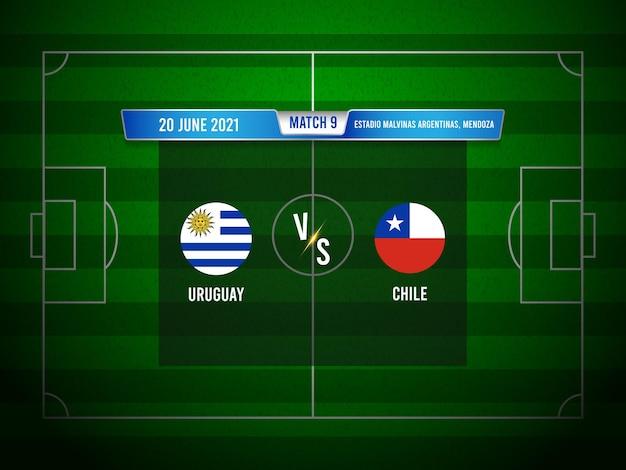 Match de football de la copa america uruguay vs chili