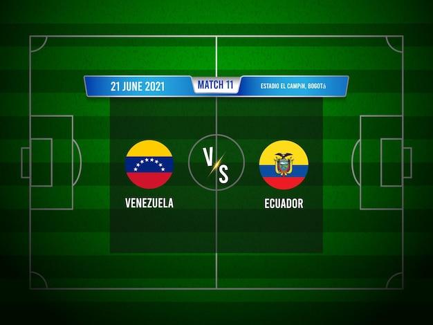 Match de football de la copa america venezuela vs equateur