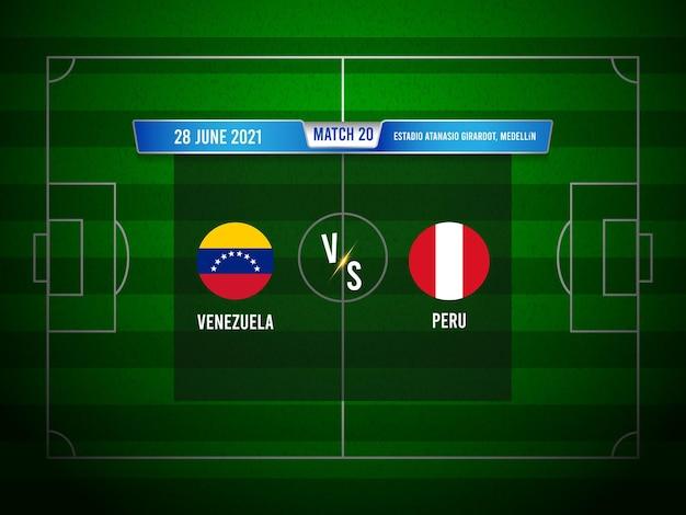 Match de football de la copa america venezuela vs pérou