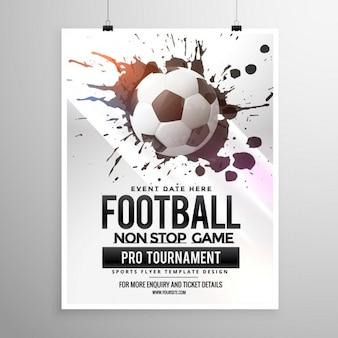 Match de football de football dépliant tournoi brochure modèle